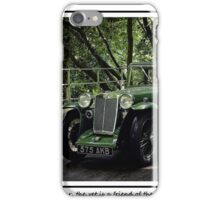 """Yes dear, the vet is a friend of the Earth!"" iPhone Case/Skin"
