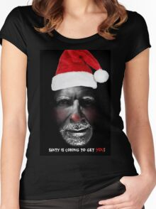 Santa is coming to get you Women's Fitted Scoop T-Shirt