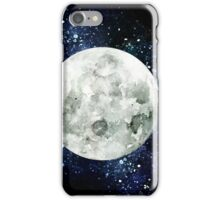 Moon - Star Gazer- Ink & Watercolor Galaxy iPhone Case/Skin