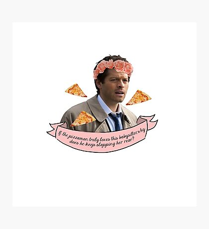 Castiel - the pizzaman and the babysitter Photographic Print