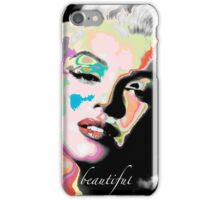 Abstract Marilyn iPhone Case/Skin