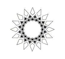 Mandala #211 || Mono by RedBookJournals