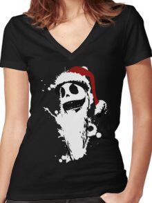 happy something Women's Fitted V-Neck T-Shirt