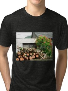 Logs'n Roses, Sligo, Donegal, Ireland Tri-blend T-Shirt