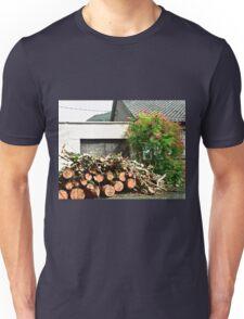 Logs'n Roses, Sligo, Donegal, Ireland Unisex T-Shirt