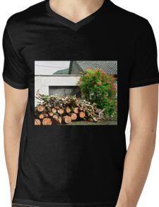 Logs'n Roses, Sligo, Donegal, Ireland Mens V-Neck T-Shirt