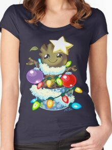 O' Christmas Groot T-Shirt Women's Fitted Scoop T-Shirt
