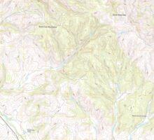 USGS TOPO Map California CA Santa Rosa Hills 20120301 TM geo Sticker