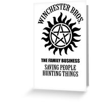 Winchester Bros. Greeting Card