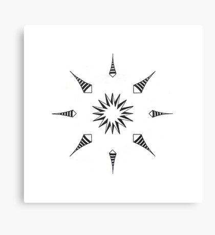 Mandala #213 || Mono Canvas Print