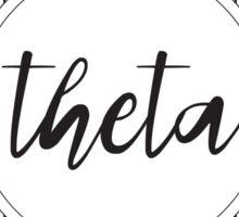 Drawn Sorority Mandala - Theta Sticker