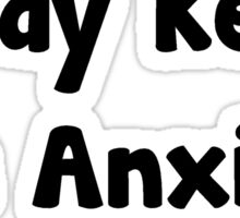 A manga a day keeps the anxiety away Sticker