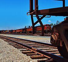 Passing Freight Train, Corona, California by Stephen Burke