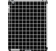 Black Tumblr Grid Pattern iPad Case/Skin