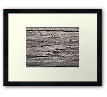 Wood Texture Framed Print