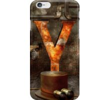 Steampunk - Alphabet - Y is for Yellow Goggles iPhone Case/Skin
