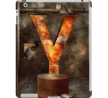 Steampunk - Alphabet - Y is for Yellow Goggles iPad Case/Skin