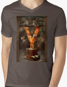 Steampunk - Alphabet - Y is for Yellow Goggles Mens V-Neck T-Shirt