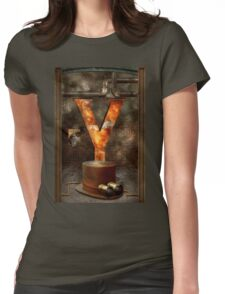 Steampunk - Alphabet - Y is for Yellow Goggles Womens Fitted T-Shirt