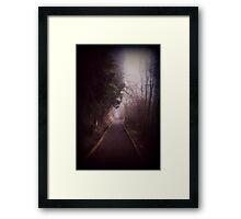 Road Less Traveled. Framed Print