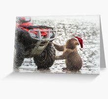 Cub to Santa – Wheels Please Greeting Card