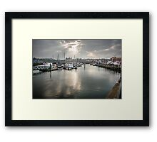 Scarborough Rays Framed Print