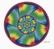 sdd Pythagorean Equation Mandala Fractal 60KR One Piece - Short Sleeve
