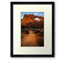 Path To Skyline Arch At Sunset - Utah Framed Print