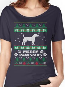 Merry Pawsmas Russell Dog Christmas T-Shirt Women's Relaxed Fit T-Shirt