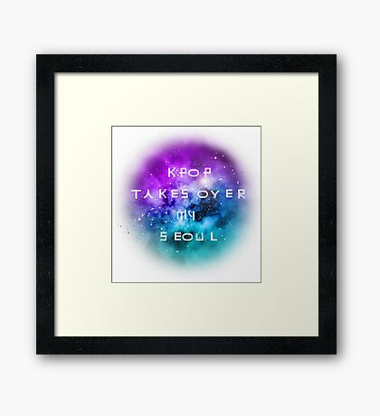 Galaxy, Kpop takes over my seoul Framed Print