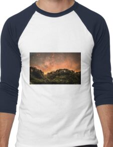 121316 sunset Men's Baseball ¾ T-Shirt