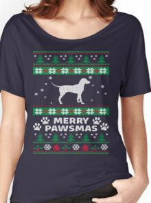 Merry Pawsmas Beagle Dog Christmas T-Shirt Women's Relaxed Fit T-Shirt