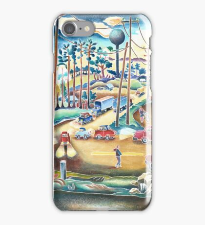 Small town county road  iPhone Case/Skin