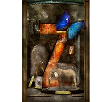 Steampunk - Alphabet - Z is for Zoology Photographic Print