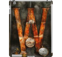 Steampunk - Alphabet - W is for Watches iPad Case/Skin