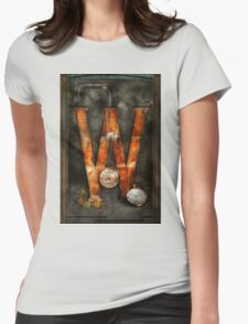 Steampunk - Alphabet - W is for Watches Womens Fitted T-Shirt