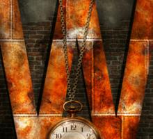 Steampunk - Alphabet - W is for Watches Sticker