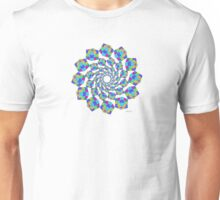 sdd cube or hexahedron Mandala Fractal 2H by sdavis Unisex T-Shirt