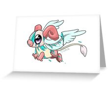 Gory Wing-Eared Cutie Greeting Card