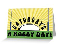 Saturday's a Rugby Day Sunrise Greeting Card