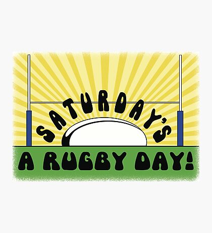 Saturday's a Rugby Day Sunrise Photographic Print