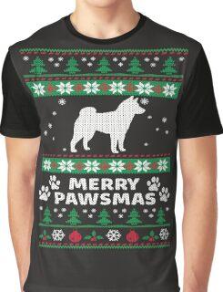 Merry Pawsmas Shiba Inu Dog Christmas T-Shirt Graphic T-Shirt