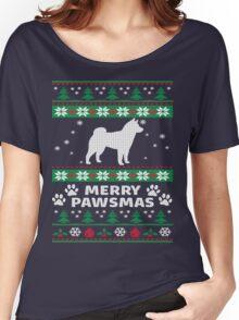 Merry Pawsmas Shiba Inu Dog Christmas T-Shirt Women's Relaxed Fit T-Shirt