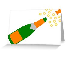 Champagne Bottle and Popping Cork Greeting Card
