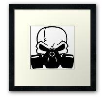 Skull Gasmask Framed Print