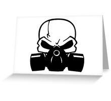 Skull Gasmask Greeting Card