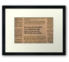 Redbubble In The News Framed Print