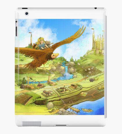 Flying On Polly Over an Enchanted Land iPad Case/Skin