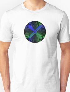 sdd Heart blue green Fractal 2C T-Shirt