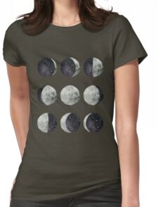 Moon Phases - Watercolor & Ink Womens Fitted T-Shirt